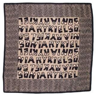 Sonia Rykiel Silk Logo Scarf