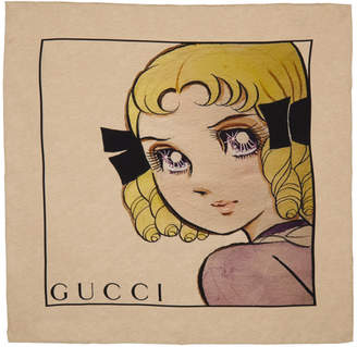 Gucci Beige Small Proserpina Scarf
