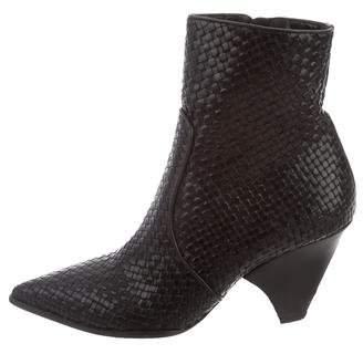 Stephane Kelian Woven Leather Booties