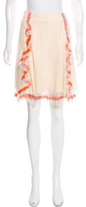 Nina Ricci Ruffle-Trimmed Lace Skirt
