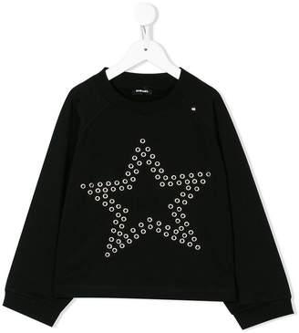 Diesel star eyelet sweatshirt