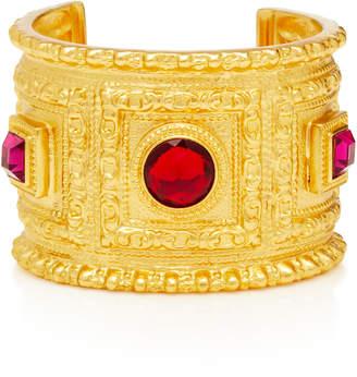 Ben-Amun Ben Amun Gold-Plated Crystal Cuff