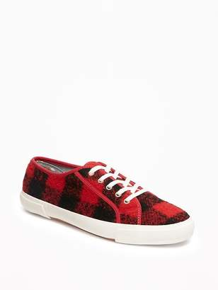 Wool-Blend Felt Sneakers for Women $24.99 thestylecure.com