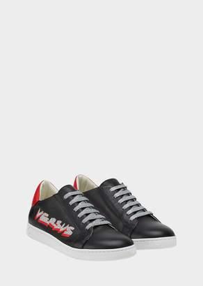Versace Versus Caps Leather Sneakers