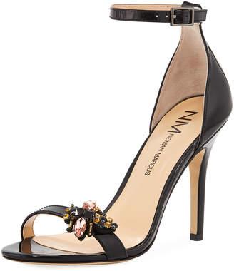 Neiman Marcus Beckbee Patent High Heel Sandal