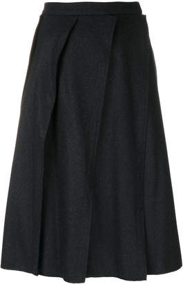 Vivienne Westwood slanted pleats skirt