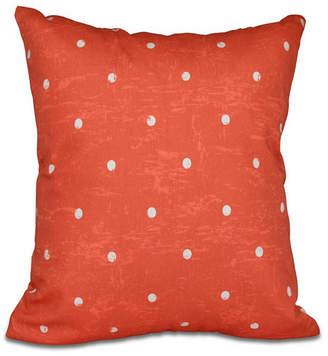 Dorothy Dot 16 Inch Orange Decorative Polka Dot Throw Pillow