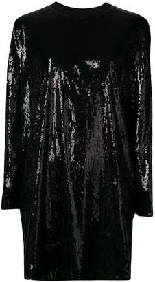MSGM all over sequined shift dress