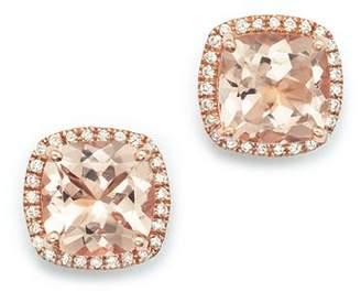Bloomingdale's Morganite and Diamond Earrings in 14K Rose Gold - 100% Exclusive