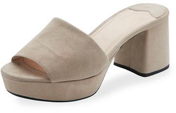 pradaPrada Suede Platform Mule Sandal