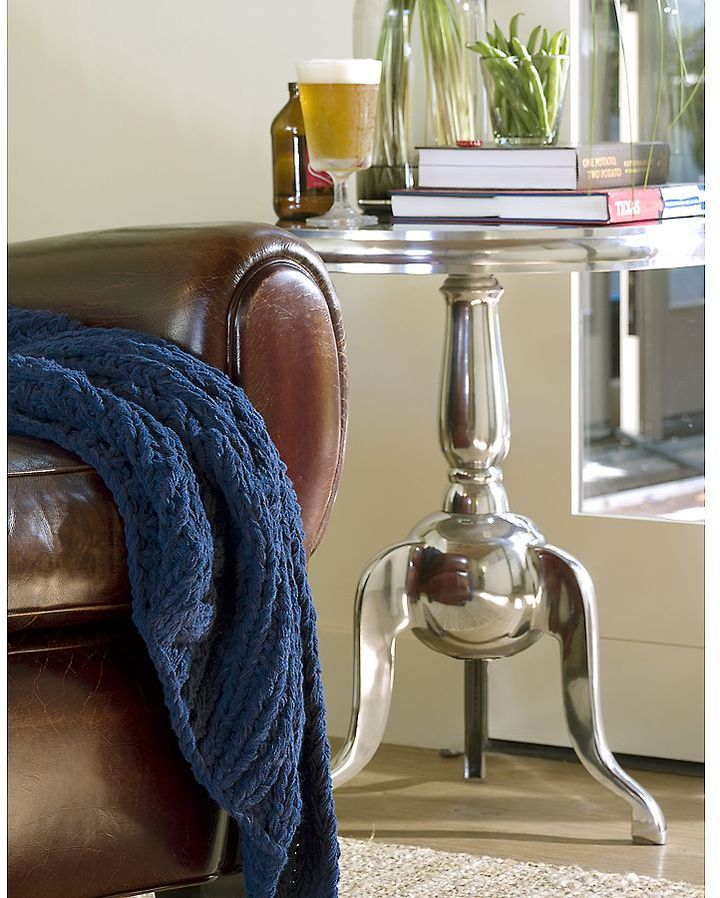 Recycled Aluminum Accent Table