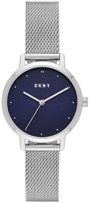 DKNY Women Modernist Stainless Steel Mesh Bracelet Watch 32mm