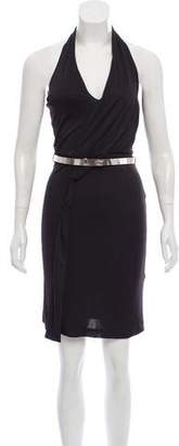 Gucci Belted Sleeveless Knit Dress
