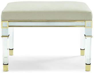 Caracole Emilee Acrylic Leg Bench