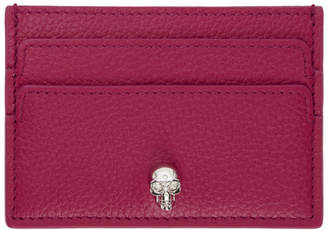 Alexander McQueen Pink Skull Card Holder