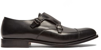 Church's Detroit Double Monk Strap Leather Shoes - Mens - Black