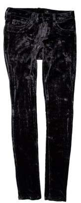Adriano Goldschmied Low-Rise Velvet Pants