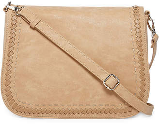 LOUIS CARDY Louis Cardy Whipstitch Large Messenger Crossbody Bag