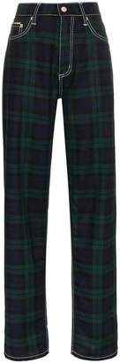 Eytys Benz check loose wool trousers