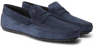 Tod's Gommino Suede Driving Shoes - Navy