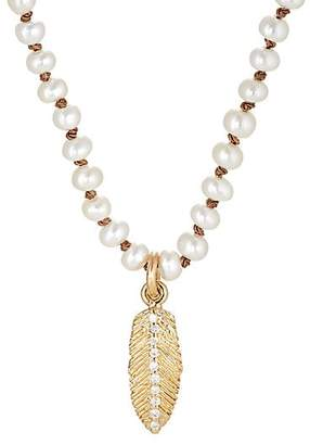 Feathered Soul Women's Feather Pendant Necklace - Gold