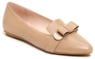 Taryn Rose Edith Bow Leather Flat
