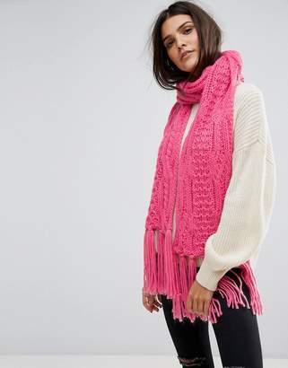 Vero Moda Knitted Tassle Scarf