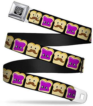Butter Shoes Buckle-Down Unisex-Adults Seatbelt Belt Peanut Jelly XL Mustache