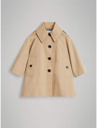 Burberry Detachable Hood Showerproof Cotton Swing Coat