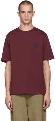 Loewe Burgundy Anagram T-Shirt