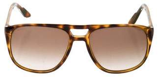 Gucci Havana GG Aviator Sunglasses