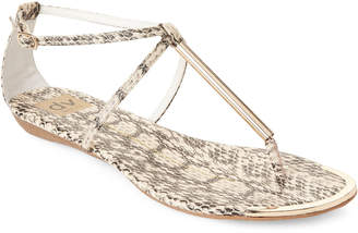 Dolce Vita Snake-Effect Archer Flat Sandals