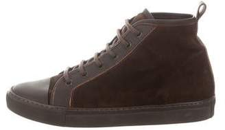 Ralph Lauren Suede High-Top Sneakers