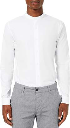 Topman Band Collar Skinny Fit Dress Shirt