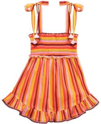 Zimmermann Goldie Shirred Short Dress