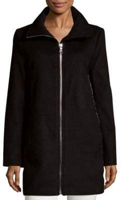 Calvin Klein Quilt-Back Zip Coat
