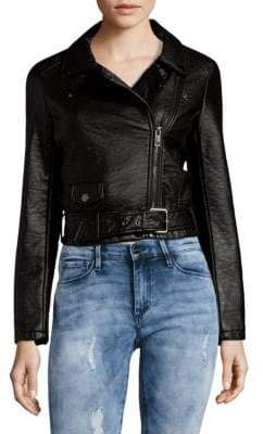 Joe's Jeans Zip Faux Leather Moto Jacket