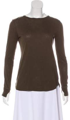Helmut Lang Asymmetrical Long Sleeve Top