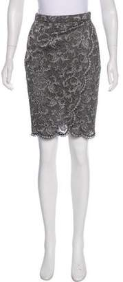 Donna Karan Lace Pencil Skirt