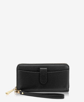 GiGi New York City Wallet, Black Pebble Grain