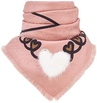 Fendi Touch Of Fur foulard scarf