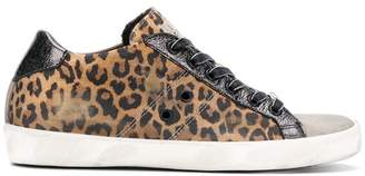 Leather Crown Warchive leopard print sneakers