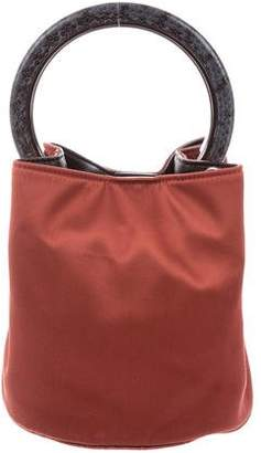 Marni Python-Trimmed Pannier Bucket Bag