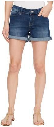 Mavi Jeans Vanna Mid-Rise Cuffed Shorts in Dark Shaded Tribeca Women's Shorts