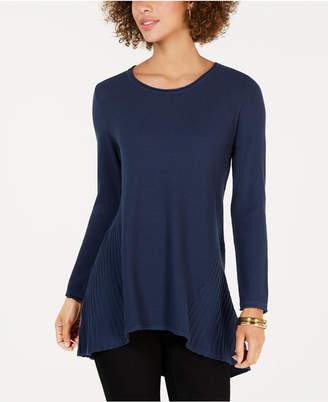 Style&Co. Style & Co Petite Handkerchief-Hem Sweater
