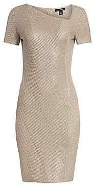 3fe1cb2deb29 St. John Women s Brielle Knit Asymmetric Neck Sequin Dress