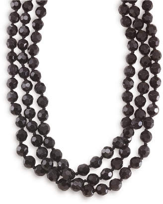 Carolee Necklace, Jet Bead Long Rope