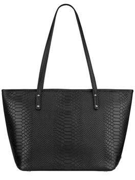 GiGi New York Taylor Python-Embossed Leather Tote