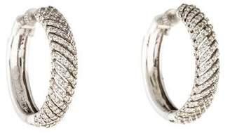 Co Gabriel & 14K Diamond Hoop Earrings