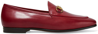 Gucci - Horsebit-detailed Leather Loafers - Red $695 thestylecure.com